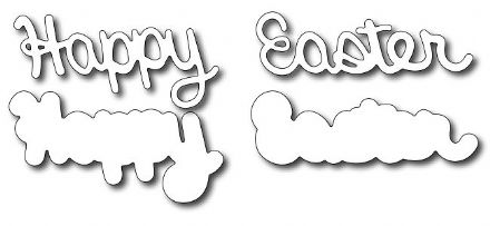 FRA-DIE-09135 ~ HAPPY EASTER WITH MATTING ~ die from FRANTIC STAMPER